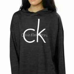 NWT Calvin Klein Jeans Women Logo Hoodie. Sz L/XL